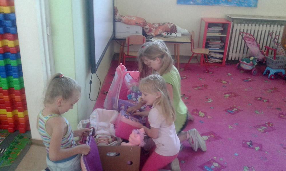 Hračky v Centre pomoci človeku Sereď